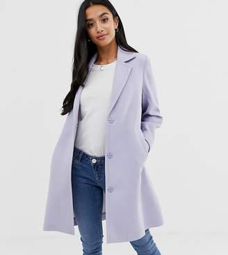 Asos DESIGN Petite crepe coat