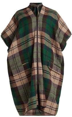 Vivienne Westwood Checked Tweed Coat - Womens - Green