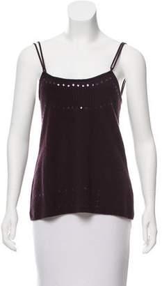 Fendi Wool & Cashmere-Blend Sleeveless Top