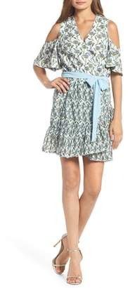 Foxiedox Lexie Cold Shoulder Wrap Dress