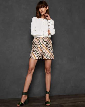 Ted Baker TEDDA Heart print jacquard shorts