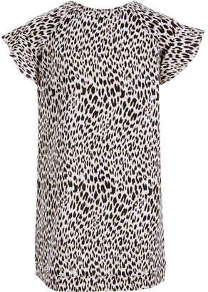 Love, Fire Big Girls Leopard-Print Sweatshirt Dress