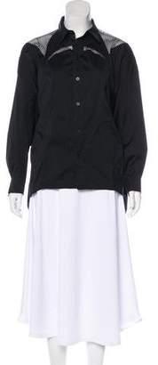 Robert Rodriguez Long Sleeve Button-Up Blouse