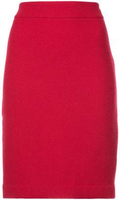 Emporio Armani fitted straight skirt