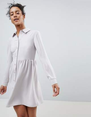 Asos Design Smock Shirt Mini Dress