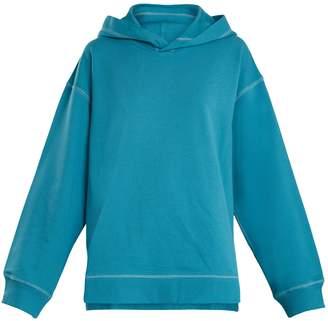 MM6 MAISON MARGIELA Hooded dropped-shoulder cotton sweatshirt