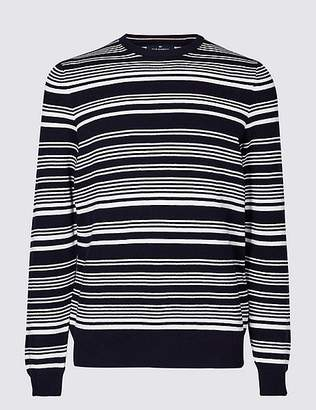 Marks and Spencer Cotton Cashmere Striped Jumper