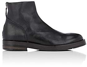 Barneys New York Men's Leather Back-Zip Boots-Black