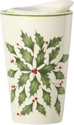 Lenox Holly Porcelain Top Travel Mug