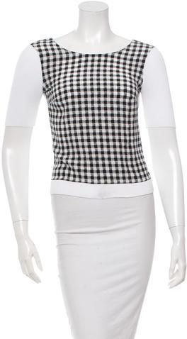Diane von Furstenberg Short Sleeve Printed Top