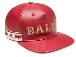 Bally Animal Leather Baseball Cap