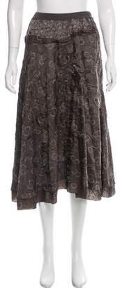 Zucca Printed Midi Skirt