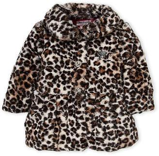 Juicy Couture Infant Girls) Snow Leopard Faux Fur Jacket