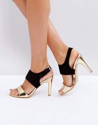 Little Mistress Contrast Buckle Heeled Sandal