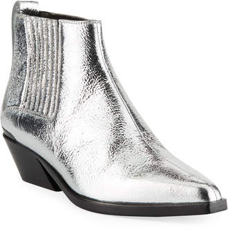 Rag & Bone Westin Crackled Metallic Boots