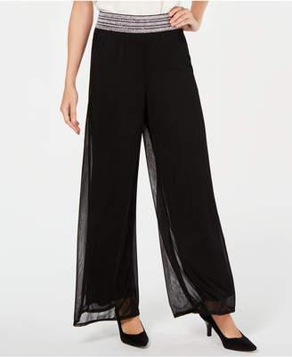 JM Collection Mesh Wide-Leg Pants