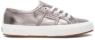 Superga 2750 Cotmetu Sneaker in Metallic Silver $79 thestylecure.com
