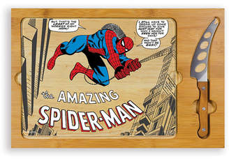 Picnic Time ToscanaTM by Marvel's Spider-Man Icon Glass Top Cutting Board & Knife Set
