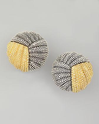 Lagos Soiree Button Earrings