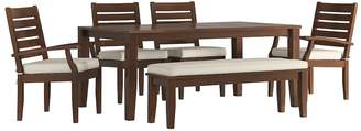 HomeVance Outdoor HomeVance Glen View Brown Patio Dining Table