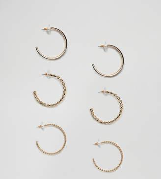Aldo hoop earring multi pack with link chain detail