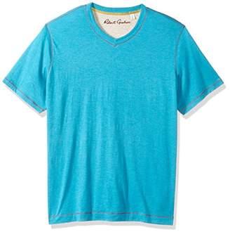 Robert Graham Men's Short Sleeve V-Neck Knit T-Shirt