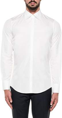 DSQUARED2 White Cotton Poplin Print