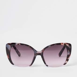 7aeb60d2e0 River Island Womens Brown tortoise shell pink lens sunglasses
