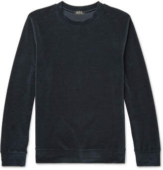 A.P.C. Jeremie Cotton-Blend Velour Sweatshirt