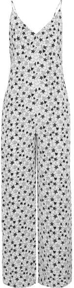 Fleur Du Mal - Printed Silk Crepe De Chine Jumpsuit - White
