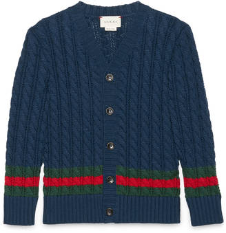 Children's cotton cardigan with Web $380 thestylecure.com