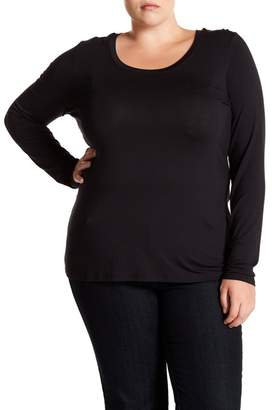14th & Union Second Skin Long Sleeve Tee (Plus Size)