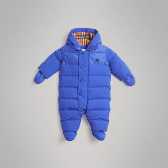 Burberry Down-filled Puffer Suit , Size: 6M, Blue