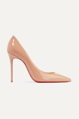 Christian Louboutin Décolleté 554 100 Patent-leather Pumps - Beige