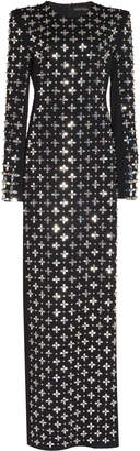 David Koma Embroidered Long Sleeve Gown