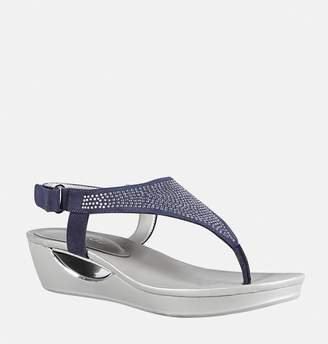 Avenue Carey Embellished Thong Wedge Sandal