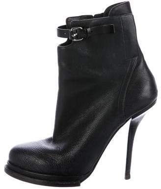 Alexander Wang Leather Platform Ankle Boots
