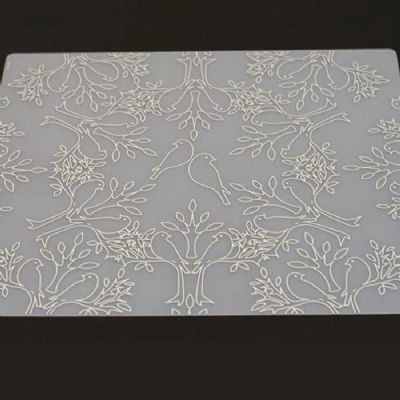 Placemat Birds N Trees Grey