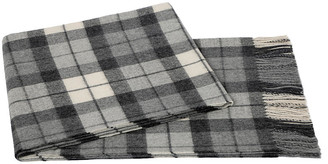 A & R Cashmere A&R Cashmere Plaid Alpaca Wool Throw - Gray/Cream - a&R Cashmere