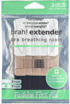 Fashion First Aid Brah! Extender: Bra Extender Band Breathing Room- Pack of 3 (White, Beige, Black)