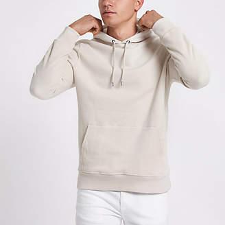 River Island Stone long sleeve hoodie