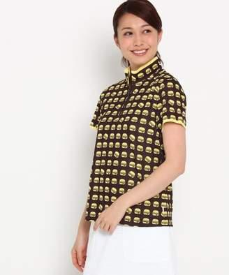 adabat (アダバット) - adabat 【UVカット】【吸水速乾】ハンバーガーモチーフ半袖ポロシャツ