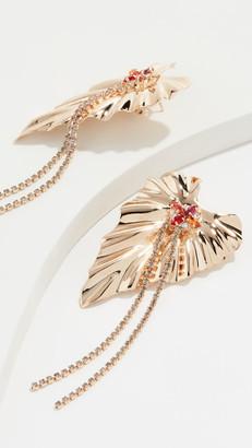 Anton Heunis Dangly Golden Ivy Earrings