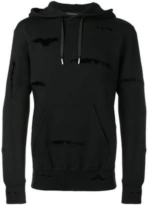 Alexander McQueen distressed detail hoodie