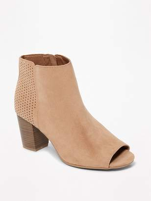 Old Navy Sueded Peep-Toe Booties for Women