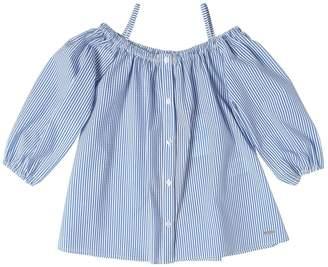 MSGM Striped Cotton Seersucker Shirt