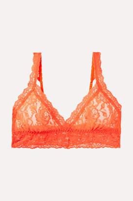 Hanky Panky Signature Neon Stretch-lace Soft-cup Bra - Orange