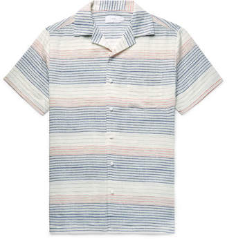 Onia Vacation Camp-Collar Striped Linen And Cotton-Blend Shirt