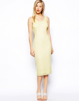 ASOS SALON Beautiful Embellished Body-Conscious Midi Dress $172 thestylecure.com