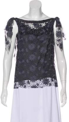 Nina Ricci Lace Sleeveless Top